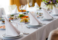 China and Flatware Rentals from La Crosse Tent and Awning